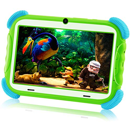AILEHO Kids Tablet Toddlers Tablet for Kids Boys Learning Drawing with Kids Edition Tablet Case 7 Inch IPS Children Toy Gift QuadCore 2GB+16GB Parents Control WiFi Android 9 Kid Mode Pre-Installed PC