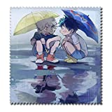 Raleighsee My Hero Academia Anime Cartoon Characters HD Printing Cotton Glasses Cloth Super Soft Superfine Fiber Cleaning Cloth for Glasses TV Screen(Style3)