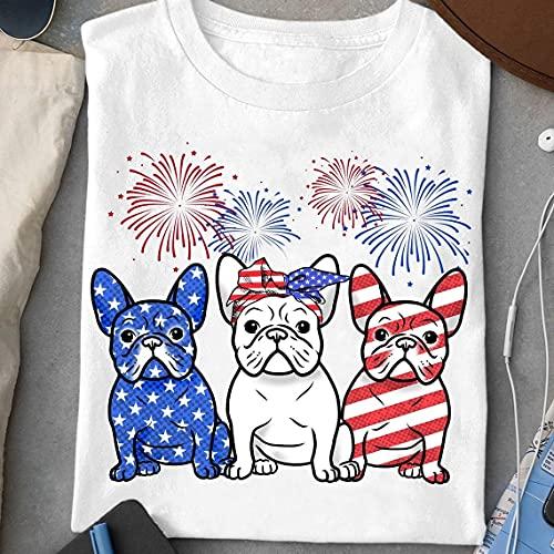 French Bulldog Usa Flag, Bulldog With Bandara, Patriotic Bulldog, 4th Of July Gift, Dog Lover Tee, Us Flag Tee, Independence Day Shirt, Patriotic Bulldog, French Bulldog Usa Flag