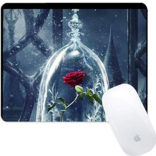 DISNEY COLLECTION Mouse Pad Rectangle Mouse Pad Beast Beauty 2017 Candle Rose Theme Movie Lights Light Galaxy and The Prevalent