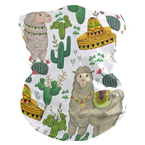 Hoofdband cactus, tropisch, Mexicaans, Alpaca, dieren, UV-bescherming, zonnescherm, halsdoek, halsdoek, halsdoek, hoofddeksel voor dames en heren.