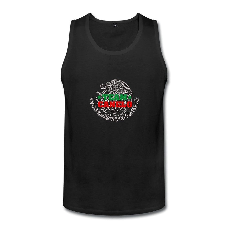 メンズ かわいい メキシコ プロボクサー サウル アルバレス ランニング シャツ 体に合う Black