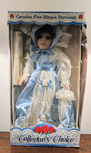 Collector's Choice 'Limited Edition Hand-Painted Genuine Fine Bisque Porcelain 16' Doll with Certificate of Authenticity (Item # 990506-VIIII) with Adjustable Display Stand