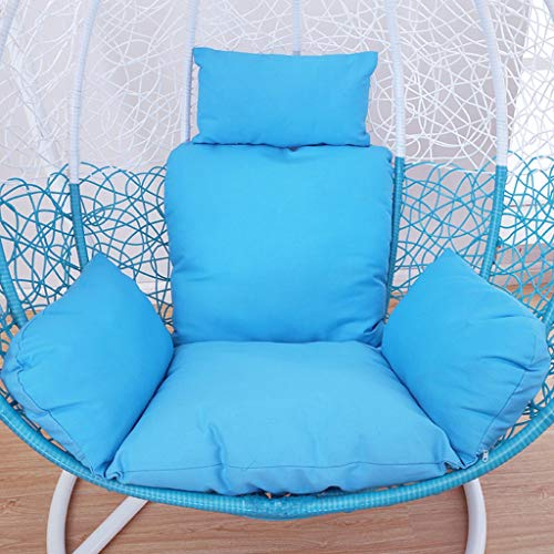 Round Hanging Chair Cushion, Indoor And Outdoor Swing Mat, Hanging Basket Floral Pad, Living Room Balcony Rocking Chair Cushion (Color : D)