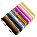 Miuance 24 Pack Nylon Headbands Nude Super Soft Stretchy for Girl Adult DIY Headbands