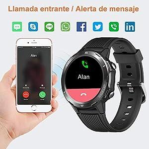 YAMAY Reloj Inteligente, Smartwatch Hombre 5ATM Impermeable con 12 Modos Deportivos Cronómetro Pulsómetro Pulsera Actividad Inteligente Smartwatch Android iOS para Xiaomi Huawei iPhoneTeléfono