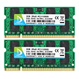 DUOMEIQI 4GB (2X 2GB) 2RX8 PC2-5300 PC2-5400 PC2-5300S DDR2 667MHz CL5 200 Pin 1.8v SODIMM Notebook RAM Non-ECC Unbuffered Laptop Memory Module Compatible with Intel AMD and MAC System
