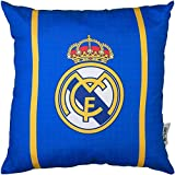 Real Madrid - Cojín (40 x 40 cm), azul, talla única