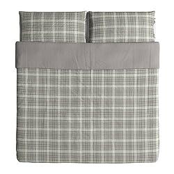 professional Ikea Snarjmara Duvet Cover  Pillow Case King Green