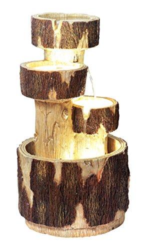 Ambiente Holzklötze Kaskadenbrunnen mit Beleuchtung 74,5cm