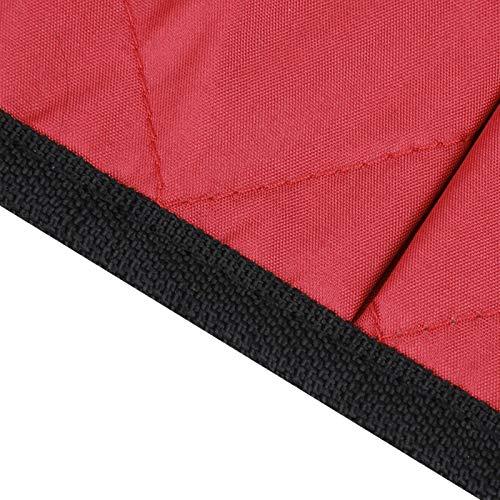 BOLORAMO Bolsa Lateral Multifuncional Multibolsillos para Silla de Ruedas Resistente, para minusválidos, para Personas Mayores(Red Wine)
