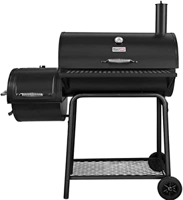 N/X Portable Large Charcoal Grill Outdoor Smoker Barbecue BBQ Grill with 2 Wheels for Garden Camping, Picnics, Backyards