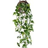 HUAESIN Enredaderas Artificiales para Exterior e Interior Verde Plantas Hiedra Artificial Colgante Falsa Hojas Guirnlada...