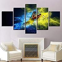 5枚パネル キャンバス写真家の装飾アートモジュラー壁画Hdポスター5パネル動物オウムリビングルーム印刷(フレームなし)