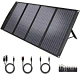 TwelSeavan Solar Panel 120W, Foldable Portable Solar Panel Charger for Jackery/EF ECOFLOW/Goal Zero/Rockpals Power Station, 4 Ports with USB3.0, TypeC for Outdoor Camping RV Phone Laptop Tablet Camera