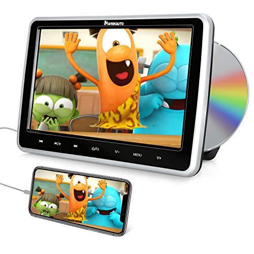 """NAVISKAUTO 10.1"""" Reproductor de DVD para Coche para Niños con HDMI, Soporte Video 1080P, Región Libre, Soporte USB/SD/DVD/CD, Incluye Soporte de Montataje"""