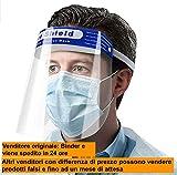 Binder Italia Visiera Protettiva di Sicurezza, Trasparente, Anti Appanamento Droplets Protegge Gli Occhi e Il Viso da Laboratorio, Medica, Face Shieldinder