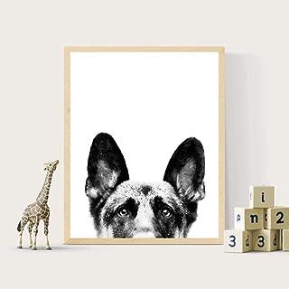 IGZAKER German Shepherd Canvas Poster Nursery Wall Art Print Watercolor Pet Dog Painting Nordic Picture Children Bedroom Decoration No Frame 5070cm