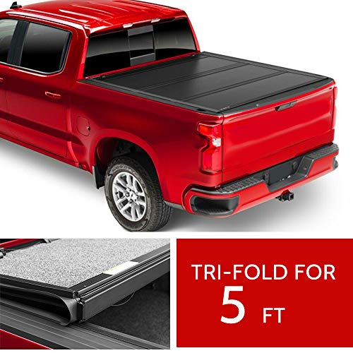 OCPTY Truck Bed Cover Soft Tri FoldPickup Truck Tonneau Cover fit for Chevrolet Colorado 2015-2020,GMC Canyon 2015-2020 5FT Bed Truck Bed
