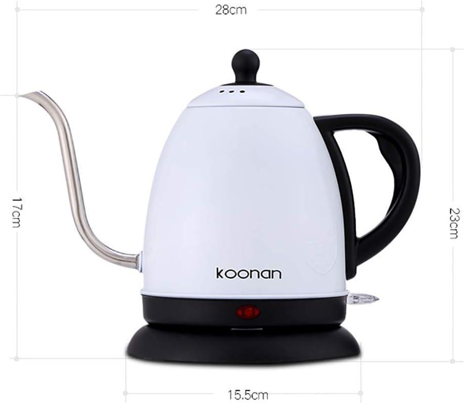 Waterkoker 1L Zwanenhals Roestvrijstalen Koffiepot 1500W Snelle Verwarming/Automatische Uitschakeling Droogkookbeveiliging Zonder (Kleur: A) B