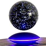Globo Flotante Levitación magnética Mapa del Mundo Cambio Luces LED Plataforma Negra 88 Constelaciones para el Regalo de los Hombres Decoración del hogar