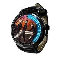 ハイキュー!! 烏野高校 ア時計LEDタッチスクリーン防水デジタルライト時計腕時計ユニセックスコスプレギフト新しい腕時計子供のための最高のギフト