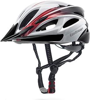 EASTINEAR Casco Bicicleta con Visera para Hombre Adulto Mujer Casco Bicicleta con Luz de Seguridad LED Cascos Ciclismo de ...
