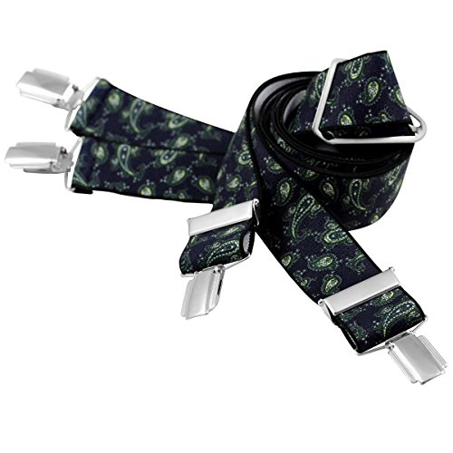 Lindenmann Mens Braces/Suspenders/mens suspenders, X-shape, 35 mm stetch, XXL, navy blue, 7435-009, Größe/Size:110