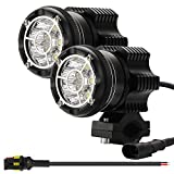 Kairiyard LED Motorcycle Driving Lights Round 2.5Inch LED Pod 90W 6000K CREE Chip 9000lm Off Road Light Spot Flash Combo Auxiliary Light Bar Work Light for ATV SUV Truck Boat Tractor