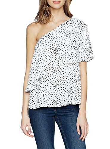 Vila Clothes Damen ONE Shoulder Top, Mehrfarbig (Cloud Dancer AOP: Vimosa Print Combo), 38