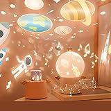 【2020最新版】スタープロジェクターライト SYOSIN天使の星空ライト ベッドサイドランプ タイマー 8曲の音楽 6種類の投影映画フィルム 360度回転機能 USB充電式 エンゼルのプロジェクターライト スターナイトライト タイマー プロジェクター プラネタリウム 家庭用 ロマンチック雰囲気作り 女の子・彼女に誕生日プレゼント ギフト(ピンク1)