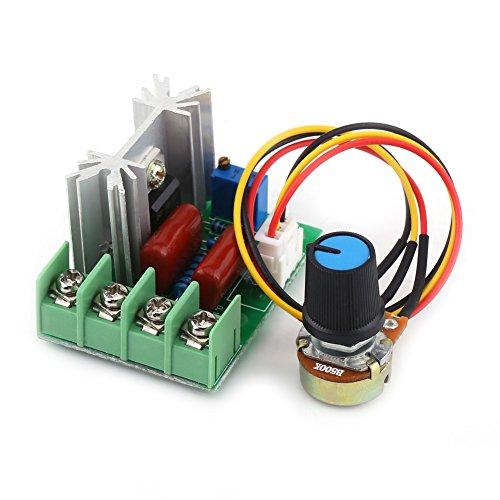 Módulo regulador de voltaje eléctrico AC 50-220V 2000W SCR, interruptor de temperatura del transformador del tablero estabilizador de voltaje de salida / atenuador de luz del regulador de velocidad