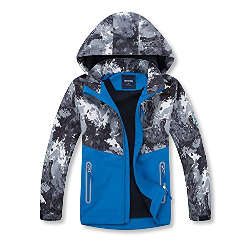 Boys Rain Jacket – Lightweight Waterproof Jacket for Boys with Hood,Best for Rain School Day,Hiking and Camping (0806, numeric_12)