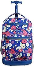J World New York Sundance Laptop Rolling Backpack, Petals, One Size