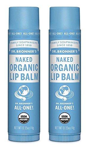Dr. Bronner's Organic Lip Balm - Naked - 0.15 oz - 2 pk