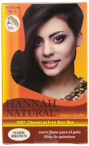 Hannah Natural 100% Chemical Free Hair Dye, Dark Brown, 100 Gram