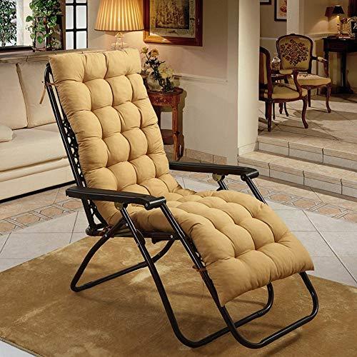 WLVG Cojines para sillas mecedoras, Cojines para sillones Espesar Alargar Cojines para sillas de Mimbre Plegables Cojín para Banco con Mullido para Patio-Color Crema 19x63 Pulgadas