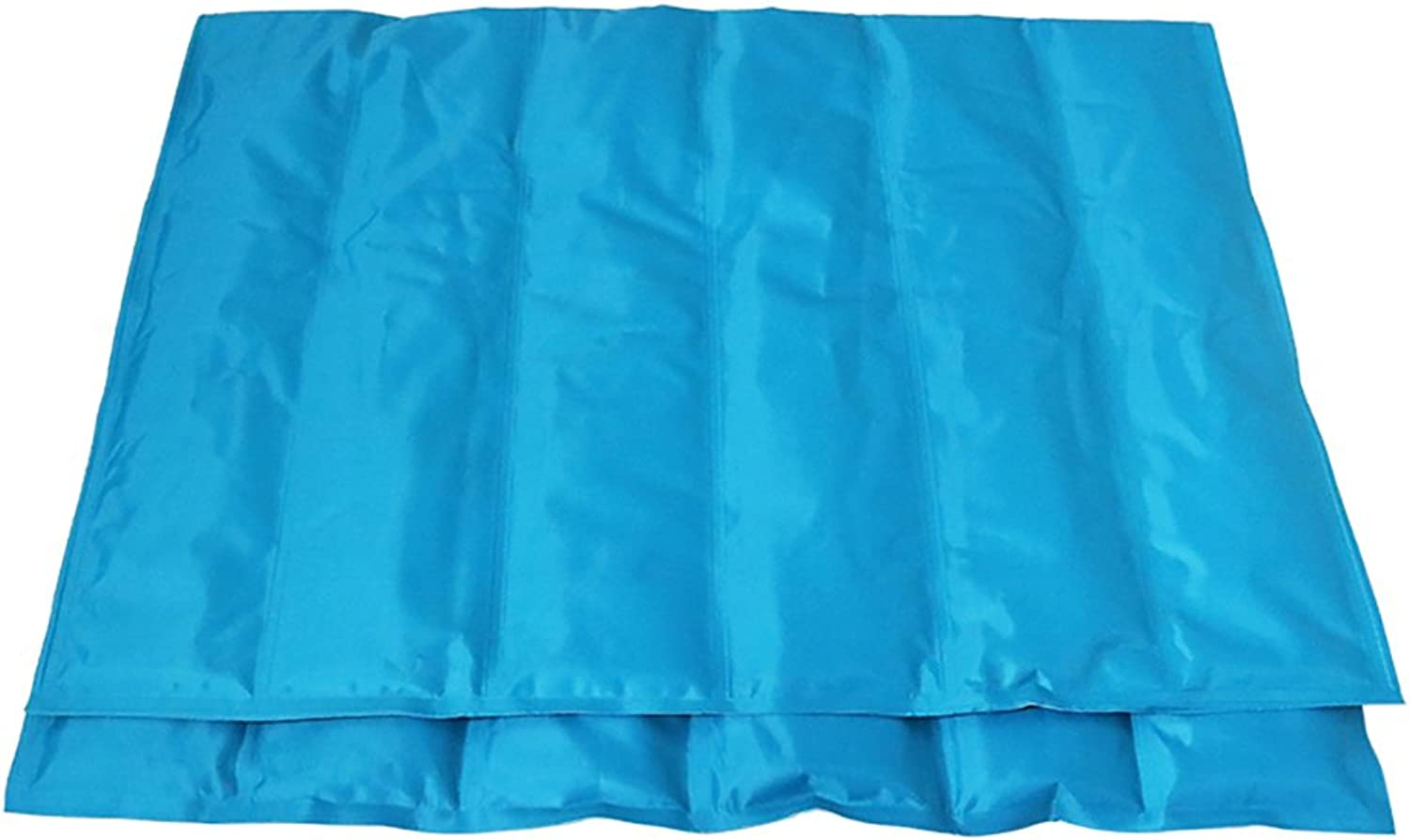 A_Feel pet mat Summer Season Dogs Ice Pad Pet Mat PVC Cushion Pet Bed Dog Bed Kennel Dog Pad Gel Cool Pad Mat Lower (color   bluee1, Size   80  95cm)