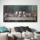 Gymqian La última Cena de Leonardo Da Vinci, Pintura Famosa en Lienzo, póster e Impresiones, Imagen artística de Pared...