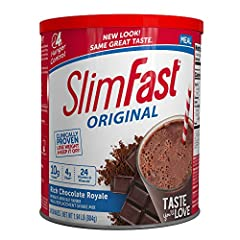 GREAT TASTE: Chocolate Royale Flavor, SlimFast Original meal replacement Shake Mix Powders are a delicious way to lose weight PACKED WITH PROTEIN, VITAMINS, & MINERALS: The SlimFast Original meal replacement Shake Mix Powder is a balanced formula pac...