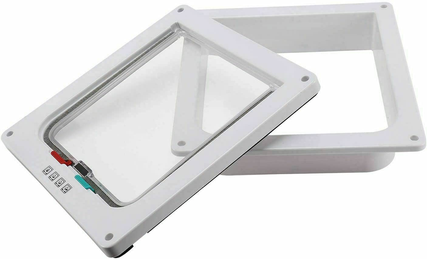 ATIN Courier shipping free Pet Door Frame Safe 4 Way Sale special price Large Flap Cat Dog Lock Magnetic