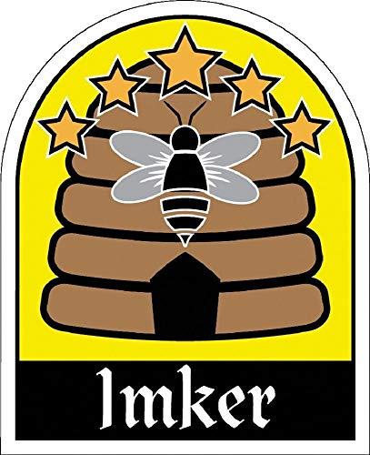 PVC-Aufkleber - IMKER Bienen Bienenstock - 307161/1 - Gr. ca. 6,5cm x 8cm - Autoaufkleber