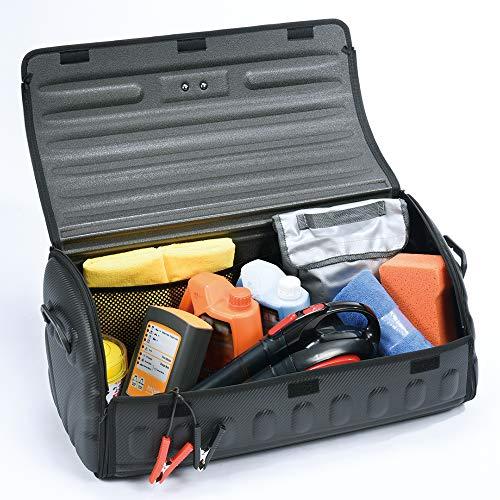 3D MAXpider Organizador De Maletero Plegable, Semi Rígido, Práctico, Maletero, Cubierta Superior, Bolsillos De Malla, Asas De Transporte |Grande