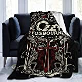 Ozzy Osbourne Art - Manta de forro polar ultrasuave, supersuave, antibolitas, ligero, sofá cama, sofá de felpa, sala de estar