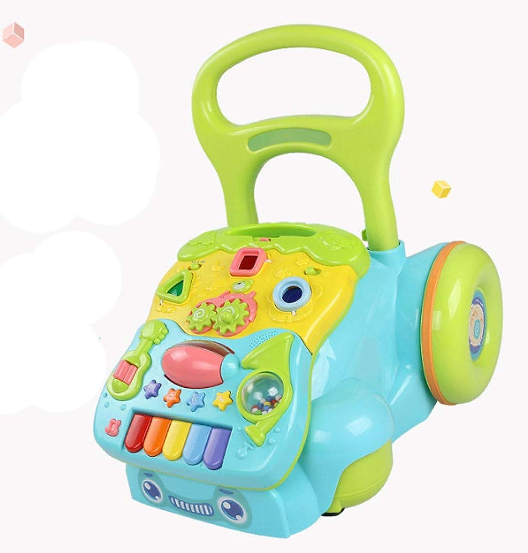 Bébé en bas age poussette bébé musique jouet enfant anti-renverseHommest marcheur-bleu