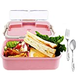 Bento Box for Kids with Hidden Handle - Bento Lunch Box For Adults Children - Durable, Leak-Proof for On-the-Go Meal, BPA-Free and Food-Safe Materials
