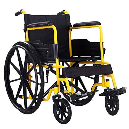GODLOVEYOU Opvouwbare rolstoel voor senioren gehandicapte lichte kruiwagen Multi-Purpose Comfortabele slijtvastheid draagbare rolstoel geschikt