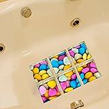 Calcomanías 3D para Tina de baño, Antideslizantes, extraíbles, de Vinilo, Coloridas, para decoración del hogar, 6 Unidades