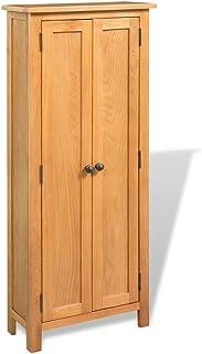 Tidyard Armoire de Rangement en Chêne Massif 6 Etagères pour Chambre à Coucher/Salon Design Elégant Marron 50 x 22 x 122 cm