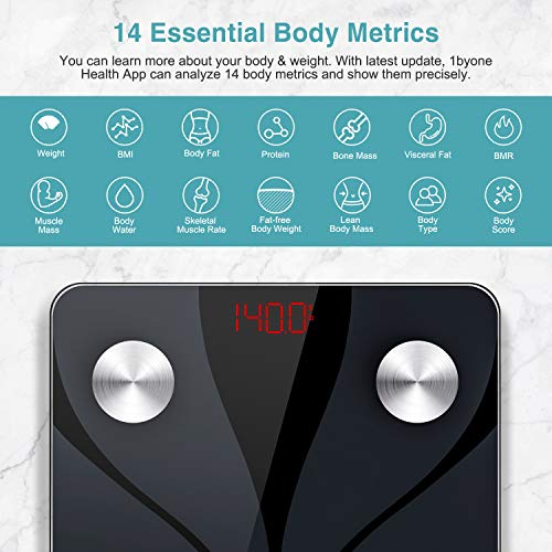 ZOETOUCH Body Fat Scale Weight Machine Digital Bathroom Scale, BMI Smart Wireless Weight Scale Body Composition Analyzer…